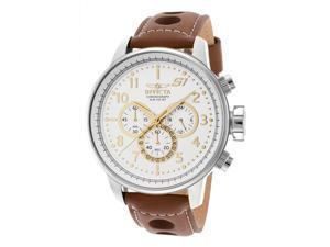 Men's S1 Rally Chrono Brown Leather Contrast Stitch Silver-Tone Dial