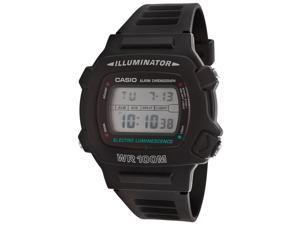 Men's Casio Digital Black Silicone 36 mm Watch W740-1V