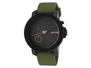Women's Raider Army Green Silicone Black Dial Crystal Accent