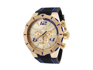 Invicta 20107 Men's S1 Rally Chrono Black Polyurethane Gold-Tone Dial Blue Accents Watch