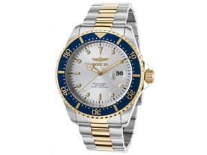 Invicta 22061 Men's Pro Diver Ss And 18K Gold Plated Ss Silver-Tone Dial Watch
