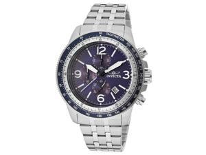 Invicta 13961 Men's Specialty Chrono Stainless Steel Blue Dial Ss Watch