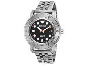 Citizen Eco-Drive AW1530-65E Black/Silver Stainless Steel Analog Eco-Drive Men's Watch
