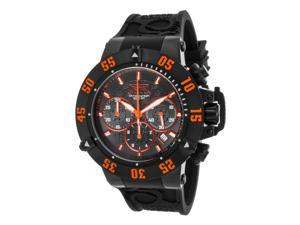 Invicta 22923 Men's Subaqua Chrono Black Silicone & Dial Orange Accents Watch