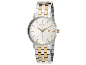 Bulova 98B255 Men's Stainless Steel Two-tone Bracelet Band Grey Dial Watch
