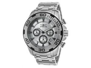 Invicta 22317 Men's Pro Diver Chronograph Stainless Steel Silver-Tone Dial Watch
