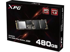 XPG SX8200 PCIe NVMe Gen3x4 M.2 2280 480GB SSD (ASX8200NP-480GT-C) w/ Black XPG Heatsink