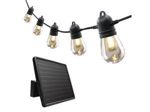 Sunforce 46' Solar 20 LED Bulbs Hanging Indoor Outdoor String Light Shatterproof/Weather-Resistance 80040