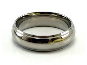 6.5mm Domed Titanium Ring (Men's and Women's)