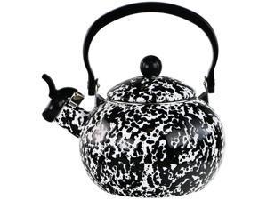 Reston Lloyd 36810 Whistling Harvest Teakettle, Black Marble