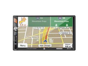 Dual DM620N 7 in. Double Din Mechless Digital Media Receiver with Built-in Navigation, Black