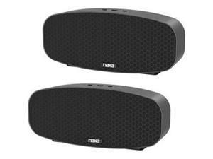 NAXA NAS-3105D Portable Bluetooth Speaker System - Black - TrueWireless Stereo - Battery Rechargeable