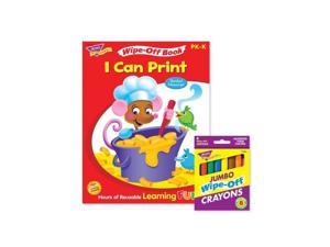 Trend Enterprises T-90914 Printing Reusable Book & Crayons