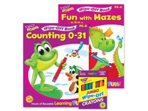 Trend Enterprises T-90918 Counting Mazes Reusable Books & Crayons