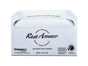 Impact Products IMP25177673 Half Fold Toilet Seat Covers, White