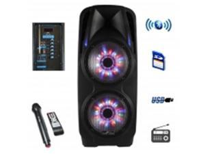BeFree Sound BFS-7900 2x10 Inch Woofer Portable Bluetooth Powered PA Speaker