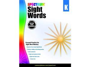 Spectrum 1497314 Spectrum Sight Words Book, Grade K - Softcover