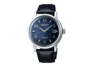 Seiko SRPE43 Presage Automatic Men Watch, Black & Blue