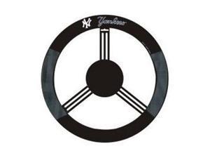 Fremont Die Inc New York Yankees Poly-Suede Steering Wheel Cover Wheel Cover
