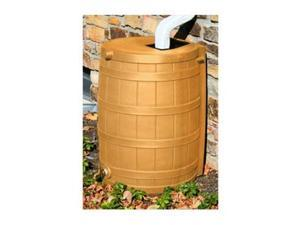 Good Ideas Rain Wizard 50 Gallon Plastic Rain Barrel Water Collector, Khaki