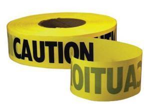 "Empire Caution Barricade Tape 3"" x 1000ft Yellow/Black 711001"