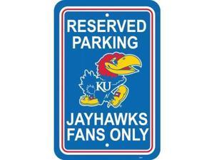 Fremont Die 50229 Kansas Jayhawks- 12 in. X 18 in. Plastic Parking Sign