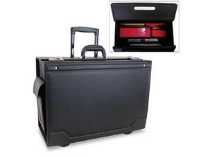 Stebco Rolling Catalog Case Leather-Trimmed Tufide 21 3/4 x 15 1/2 x 9 3/4 Black