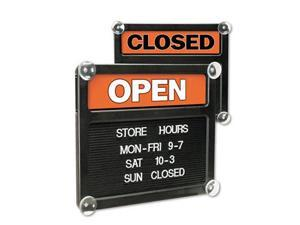 Headline Sign Double-Sided Open/Closed Sign w/Plastic Push Characters 14 3/8 x