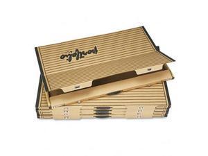 Safco 3008TS Fiberboard Portfolio w/Metal Turnbuckles, 1-1/8'' Cap, 36-1/2 x 24-1/4, Sand/BLK