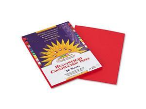 Pacon 9903 SunWorks Construction Paper  Heavyweight  9 x 12  Holiday Red  50 Sheets