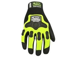 Ringers Gloves RG146-09 Hi-Viz Green Split Fit Air Impact Gloves Medium