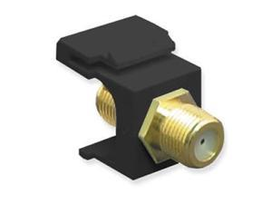 MODULE, F-TYPE, GOLD PLATED, BLACK