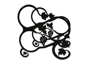 Village Wrought Iron WR-157-S Grapevine Wine Rack - Black