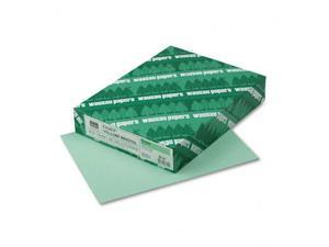 Wausau Papers 82351 Vellum Bristol Cover Stock  67lb  Green  Letter  250 Sheets per Pack