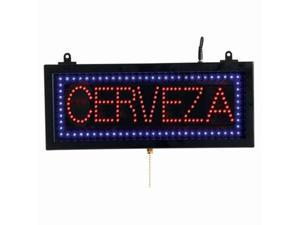 Aarco Products CER07S Small Spanish LED Sign Cerveza - Beer