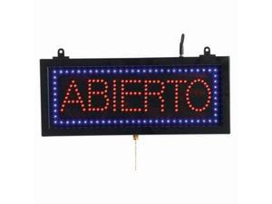Aarco Products ABI08S Small Spanish LED Sign Abierto - Open