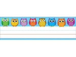 Carson Dellosa CD-122029 Colorful Owls Nameplates 36Ct