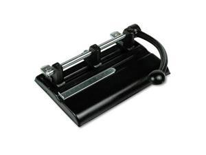 Master Products 1340PB 40-Sheet Lever Action 2- to 7-Hole Adjustable Punch  13/32   Holes  Black