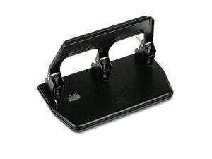 Master Products MP50 40-Sheet Heavy-Duty Three-Hole Punch  9/32   Holes  Gel Pad Handle  Black