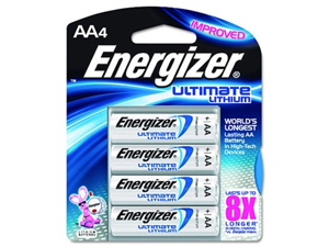 Energizer ENE L91BP4 Ultimate Lithium AA Battery - Case of 4