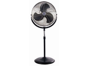 Optimus 18 in. Stand Fan Industrial Chrome Grill - Black - F4184