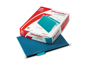 Pendaflex Reinforced Hanging Folders 1/5 Tab Letter Teal 25/Box 415215TEA