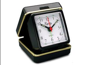 Equity 20080 Quartz Folding Travel Alarm Clock with Luminous Hands and Dots