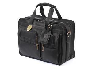 Claire Chase 154E-black Executive Computer Briefcase X-wide - Black