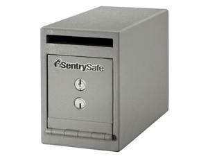 Sentry Safe Cash Depository Safe, 0.39 cu. ft., 29 lb., Gray Solid Steel UC-039K