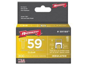 """5/16""""X 5/16"""" INSULATED STAPLE CLEAR 300/BOX"""