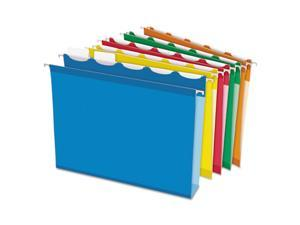 Pendaflex Ready-Tab 42700 Ready-Tab Hanging File Folders, 2 in. Capacity, Letter, Assorted, 20-Box