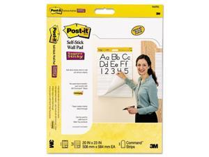 Post-It Easel Pads 566PRL Self-Stick Wall Easel Ruled Pad, 20 in. w x 23 in. h, White, 20 Sheets-Pad, 2-Pack