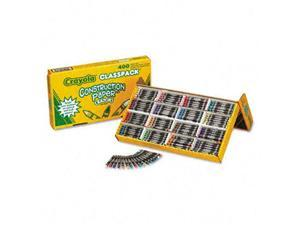 Crayola. 521617 Construction Paper Crayons, Wax, 25 Each of 16 Colors, 400/Box