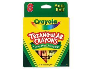 Crayola Triangular Crayons 8 Colors/Box 524008
